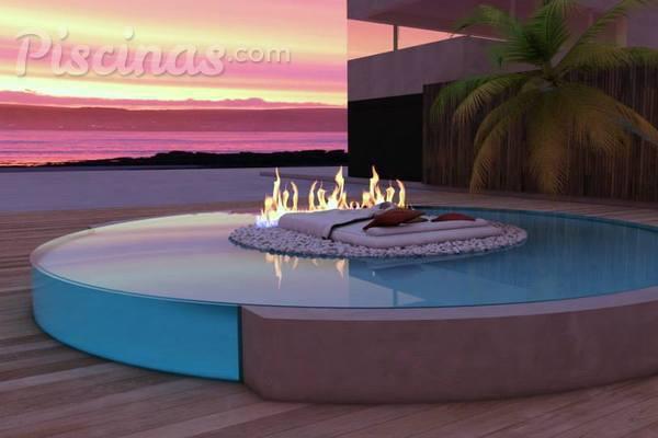 Una chimenea en tu piscina