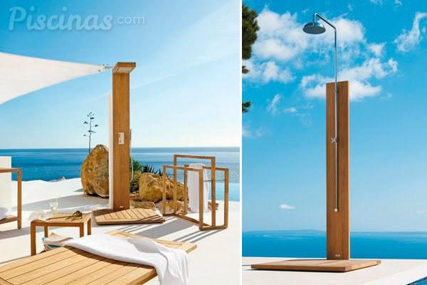 Dúchate con estilo: las duchas de piscinas más a la moda - Piscinas.com