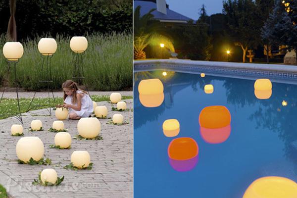 Velas flotantes un toque m gico en tu piscina for Velas flotantes piscina
