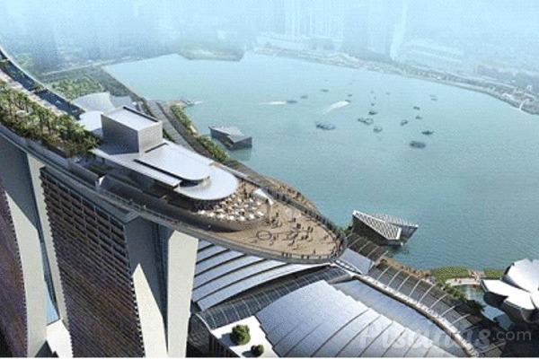 La piscina m s alta del mundo est en singapur for Piscinas en altura