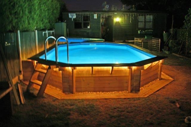 piscina desmontable semienterrada